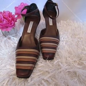 Ann Marino Ankle Strap Pumps